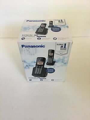 PANASONIC Cordless Phone System with Amber Backlit Display and Call Block