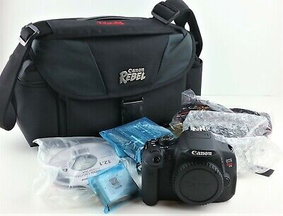 Canon EOS Rebel T5i 18.0MP Digital SLR Camera EF-S 18-55mm Charger Battery ++