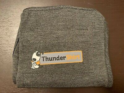 Thundershirt Dog Anxiety Vest Calm Solid Gray SMALL (15-25 lbs dogs) Authentic