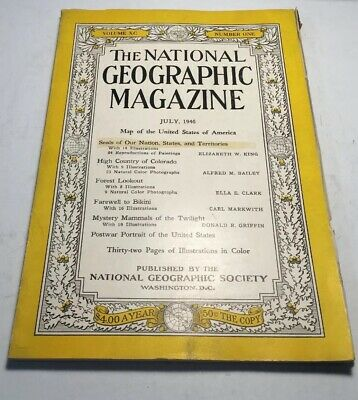 The National Geographic Magazine July, 1946 Volume XC Number One