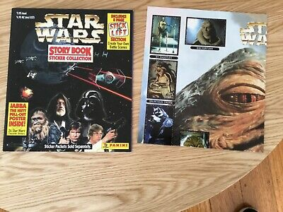 STAR WARS STICKER ALBUM COMPLETE WITH ALL STICKERS (Inserted) By PANINI