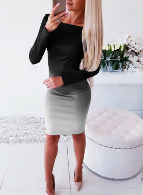 Bandage Evening Party Club Bodycon Dress Mini Women Casual Long Sleeve Cocktail