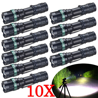 Lot Tactical 500000LM Zoomable T6 LED Flashlight 18650 Torch Light Aluminum NEW!