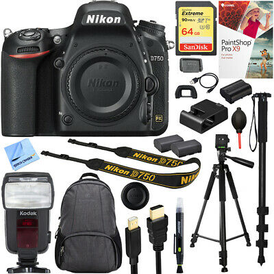 Nikon D750 DSLR 24.3MP HD 1080p FX-Format Digital Camera with 64GB Accessory Kit