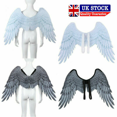 UK Large Adult Angel Wings Fairy Feather Fancy Dress Costume Party Hen Halloween