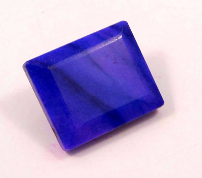 Dyed  Faceted Blue Sapphire Cut Loose Gemstone 87 ct 29X26 mm  RM13052