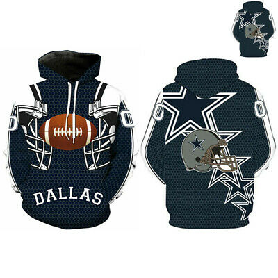 Dallas Cowboys Sport Winter Hoodies Sweatshirt Hooded Jumper Jacket Coat US