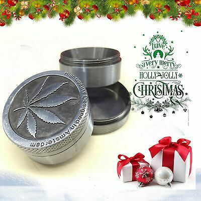 Zinc Alloy Tobacco Herb Grinder Hand Muller Smoke Crusher 4 Layers Sydney Stock