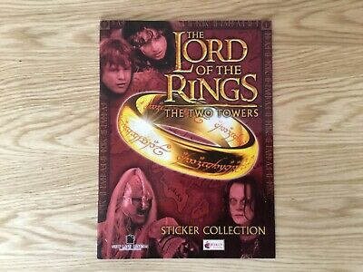 THE LORD OF THE RINGS THE TWO TOWERS EMPTY STICKER ALBUM By MERLIN