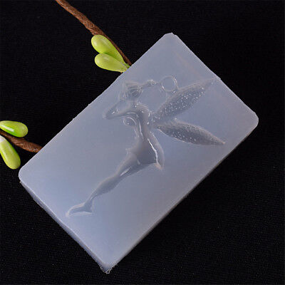 Lovely Fairy Shape Mold DIY Decoration Mobile Phone Tools Jewelry Silicone ,Y
