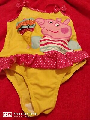 Lovely Girls Peppa pig Multi Fashion Swimming Costume age  4-5 yrs