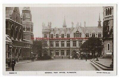 Devon Plymouth General Post Office Real Photo Vintage Postcard 16.10