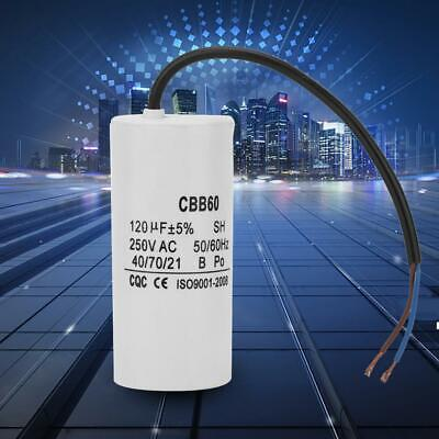 CBB60 Run Capacitor 100uF/120uF with Wire Lead for Motor Air Compressor
