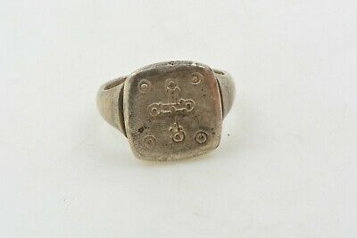 Medieval Knights Templar Silver Ring CROSS Crusader Times 12th C. size 7