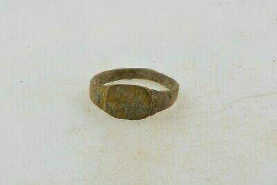 Antique Roman Byzantine Medieval bronze child ring 100-1200 AD #31 Size 3