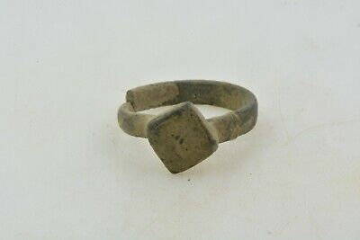 Antique Roman Byzantine Medieval bronze ring 100-1200 AD #12 Size 5