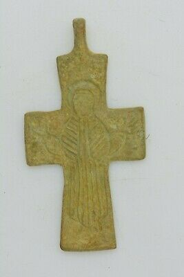 Byzantine bronze cross Virgin Mary 10th century AD