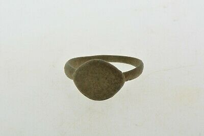 Antique Roman Byzantine Medieval bronze ring 100-1200 AD #4 Size 7 1/2