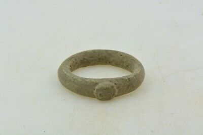 Antique Roman Byzantine Medieval bronze ring 100-1200 AD #17 Size 3 1/2