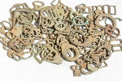 Lot of 109 Roman to Byzantine bronze belts and buckles 100-800 AD