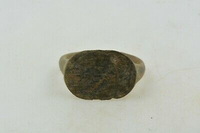 Antique Roman Byzantine Medieval bronze ring 100-1200 AD #13 Size 7 1/2