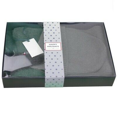 Tommy Hilfiger Knitted Hat Scarf Gift Box Anthracite AM0AM05186 0IT