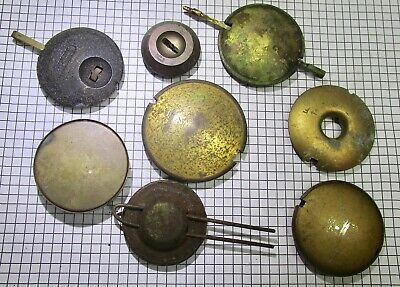 Vintage clock pendulums (15) - job lot for repairers and restorers. No reserve.