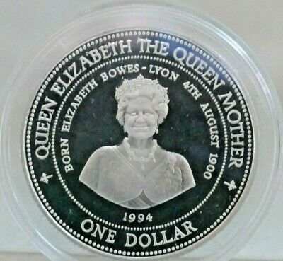 Royal Mint ~ 1994 Barbados .500 Silver $1 The Queen Mother ~ Lady Of The Century
