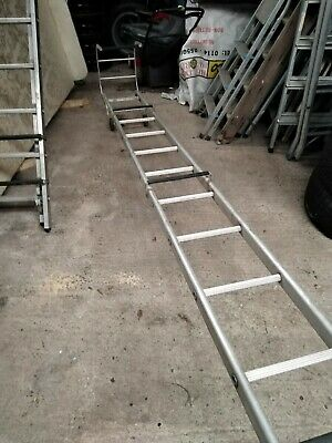 Industrial Crawler/Cat Roof Ladder With Extension Cash On Collection Only