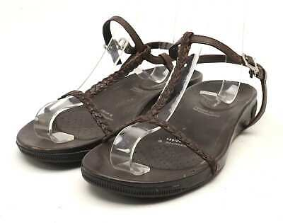 ROCKPORT BROWN LEATHER Adiprene Trainers Comfort Shoes Size