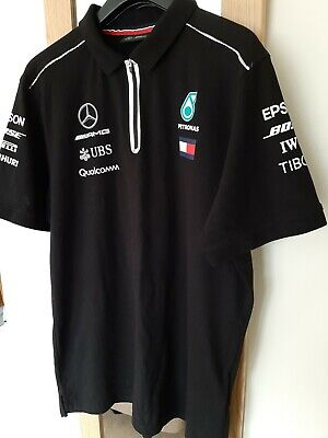 Official Mercedes AMG Petronas Motorsport Formula 1 Polo T-Shirt Size XL NWOT!!