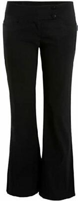 New Ladies Womens Girls Black& Navy Stretch School Trousers (5 Styles ) 6-16