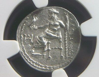 Greek Silver Drachm of Alexander III the Great, Lifetime issue  NGC Ch AU   1001