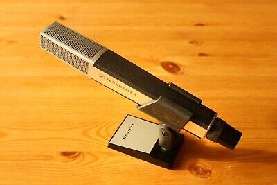 Vintage Sennheiser MD441 U MD 441-U microphone + fixing clamp + XLR Shure cable