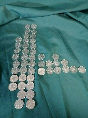 Lot Of 46 Canadian Half Dollars 1968-1986