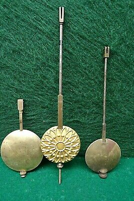 3 Original Antique  Clock Pendulums.