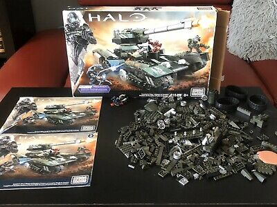 Mega Bloks HALO Scorpion's Sting Tank Instructions Box & Parts