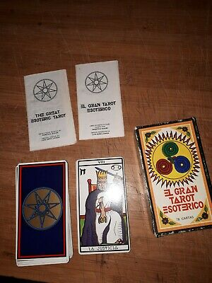 Vintage 1978 The Great Esoteric Tarot Card Deck Spain Complete Htf Used