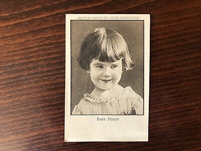 BABY PEGGY RARE Trading Card Silent Film Actress 1920 Vintage