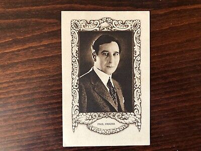PAUL PANZER RARE Trading Card Silent Film Actor 1920 Vintage