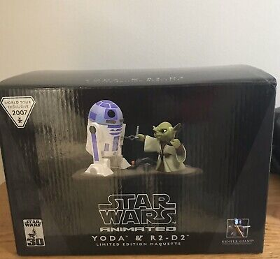 Star Wars Gentle Giant Animated Yoda & R2-D2 Limited Edition Maquette #585/2500