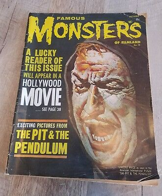 Famous Monsters Of Filmland #14 Oct 1961 Pit & Pendulum Vincent Price