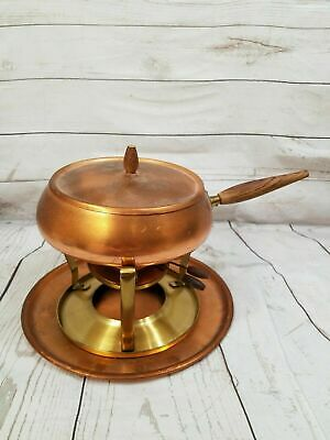 Vintage MCM (Mid-Century Modern)  COPPER Fondue Pot / Chaffing Dish- Collectible