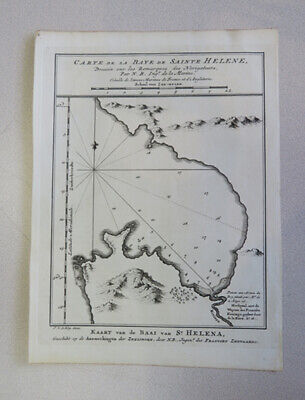 1757 Bellin Antique Map St Helena Bay, Western Cape South Africa