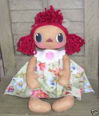 Primitive Raggedy Ann Doll - Shabby Flowers Chic - Excellent Condition!