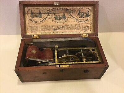 Antique Davis & Kidder Magneto Medical Electric Shock Machine Quack Medicine