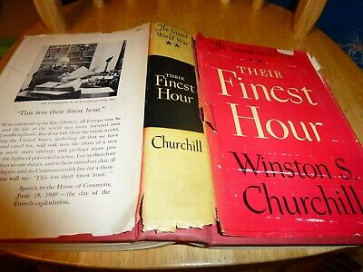 Their Finest Hour by Winston Churchill Hardcover with Dust Jacket 1949