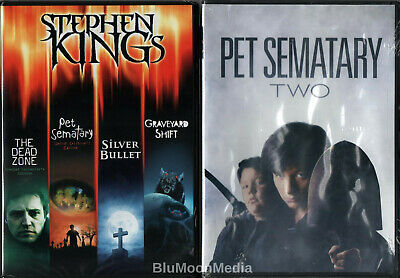 Stephen King 5 Movie Collection DVD Set Pet Sematary Dead Zone Silver Bullet NEW