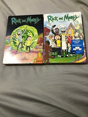 Rick and Morty Seasons 1 and 2 DVD Bundle Brand New Free Shipping!