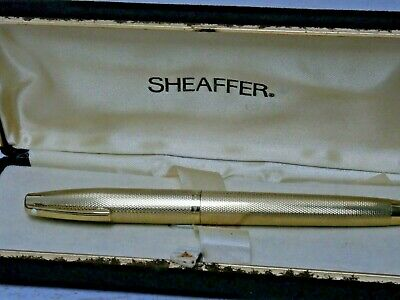 Top Quality Vintage Sheaffer Gold Plated Fountain Pen - Lovely Example In Box